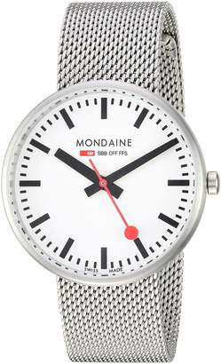 Mondaine Women's 'SBB' Swiss Quartz Stainless Steel Casual Watch, Color Silver-Toned (Model: A763.30362.16SBM)