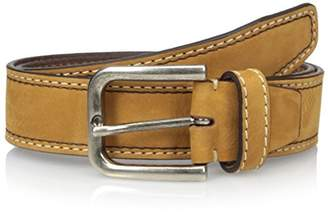 Bolliver Men's Suede Belt with Two Tone Contrast Stitch