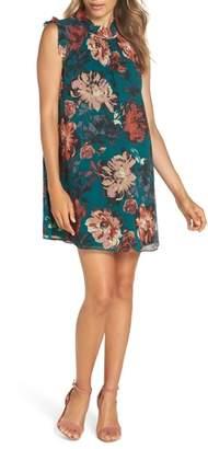 Ali & Jay Wonderful Things Floral Ruffle Neck Shift Dress
