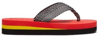Proenza Schouler Geometric Woven Flip Flops - Womens - Red