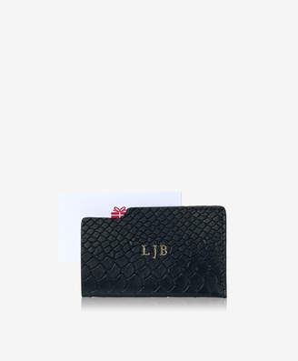 GiGi New York Gift Card, Personalized Black Leather Mini Card Case