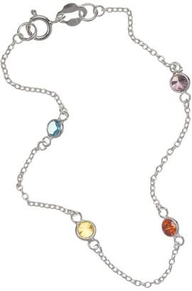 Primrose PRIMROSE Sterling Silver Crystal Stone Bracelet