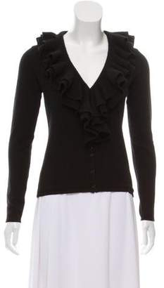 Ralph Lauren Ruffled V-Neck Cardigan