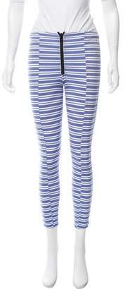 Lisa Marie Fernandez Striped Mid-Rise Leggings