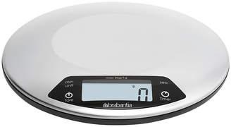 Brabantia Digital Kitchen Scales with Timer - Matt Steel - Round