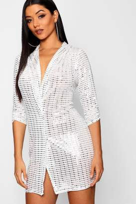 boohoo Sequin Blazer Dress