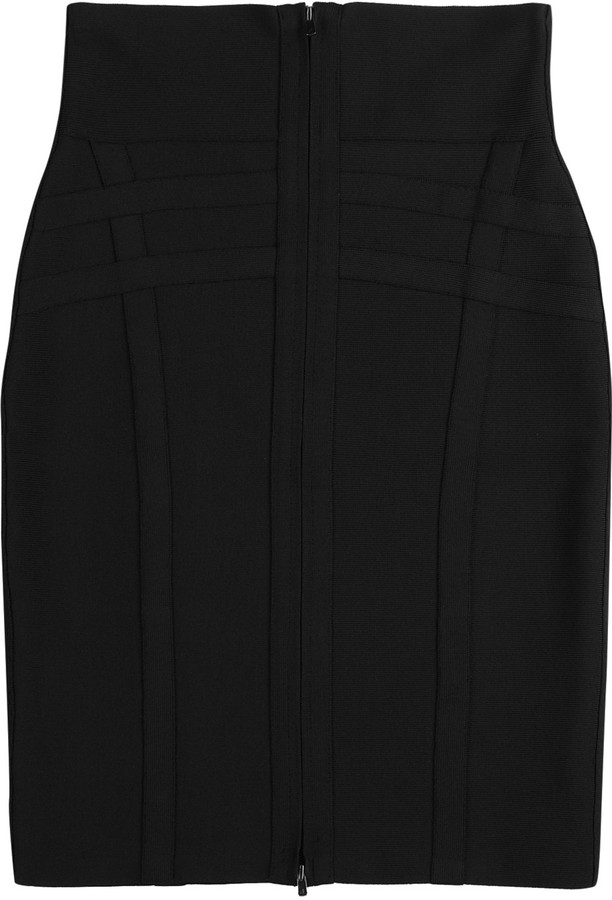 Hervé Léger High-waisted skirt
