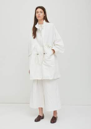 Dusan Dušan Cotton Military Parka Coat White