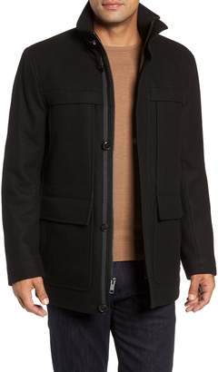 Andrew Marc Brantley Wool Blend Car Coat
