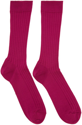Robert Geller Pink Konstantin Socks $65 thestylecure.com