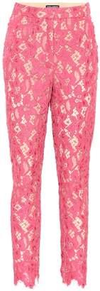 Dolce & Gabbana Floral lace pants
