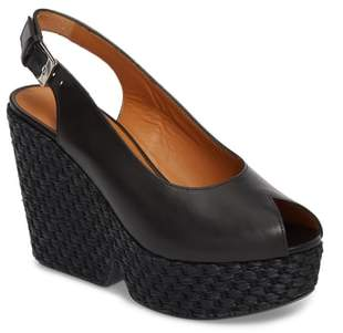Robert Clergerie Dylancop Woven Wedge Sandal