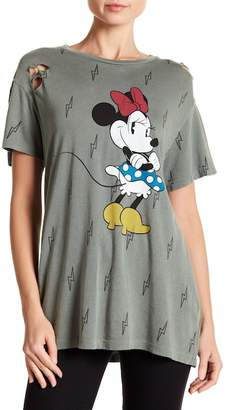 Recycled Karma Distressed Minnie Mouse Tee