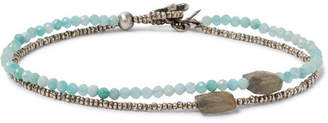 Peyote Bird Sterling Silver, Amazonite And Quartz Bracelet