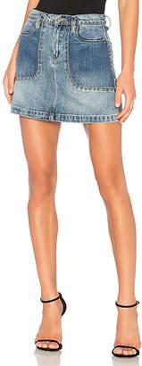 Blank NYC BLANKNYC Patchwork Mini Skirt.