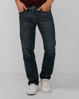Express Slim Dark Wash Distressed Pocket 100% Cotton Jeans