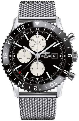 Breitling Stainless Steel Chronoliner Automatic Watch 46mm