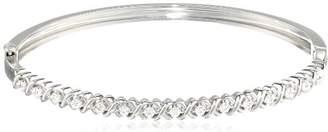Sterling Diamond Bangle Bracelet