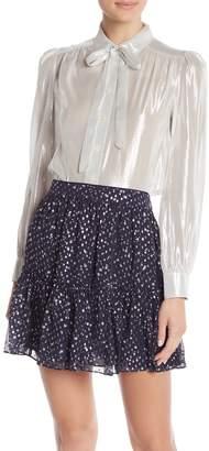 Kate Spade Metallic Silk Blend Shirt