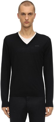 DSQUARED2 Wool Knit V-neck Sweater