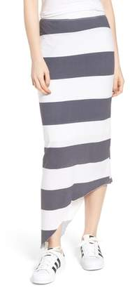 Frank And Eileen Stripe Asymmetrical Skirt