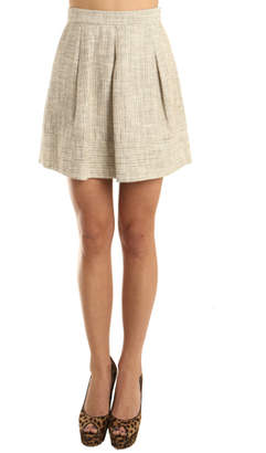 L'Agence Pleated Skirt with Border