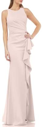 Carmen Marc Valvo Infusion Couture Infusion Ruffle Gown