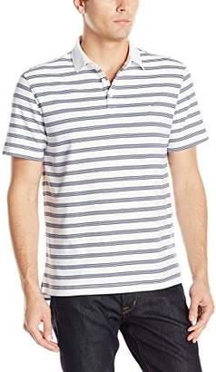 Izod Men's Short-Sleeve Windward Cool Interlock Feeder-Stripe Polo Shirt