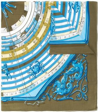 Hermes Pre-Owned sundial print scarf