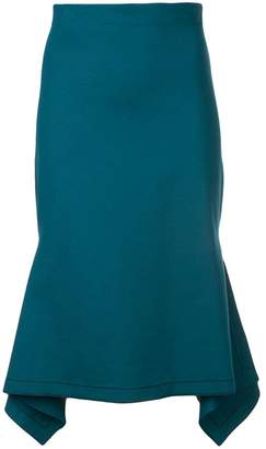 Rosetta Getty asymmetric drape panel skirt