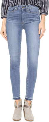 PAIGE Margot Ankle Jeans with Undone Hem $199 thestylecure.com