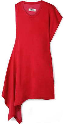 MM6 MAISON MARGIELA Asymmetric Jersey Mini Dress - Claret