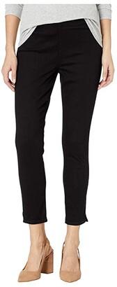 NYDJ Petite Petite Pull-On Skinny Ankle Slits in Black