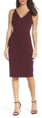 Adelyn Rae Scallop Sheath Dress