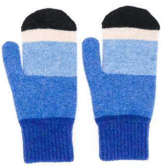 Paul Smith knitted stripe mittens