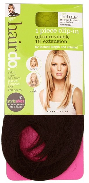 Hairdo. by Jessica Simpson & Ken Paves 1PC Fine Line Hair Extension (Chestnut) - Beauty