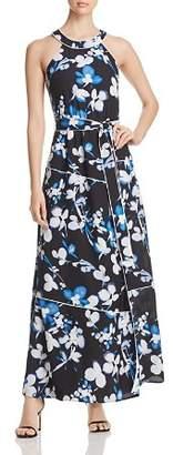Calvin Klein Floral Tie-Waist Maxi Dress