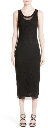 Women's Fuzzi Lace Tank Midi Dress $440 thestylecure.com