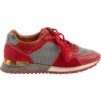 Womens Red Suede Trainers - ShopStyle UK 709122070
