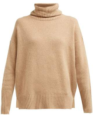 Allude Roll Neck Cashmere Sweater - Womens - Camel