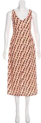 Rachel Comey Sleeveless Printed Maxi Dress