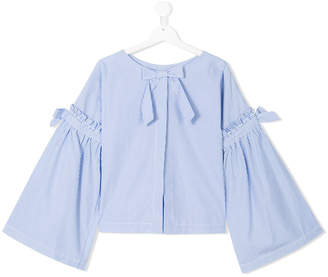 Lapin House TEEN bow striped blouse