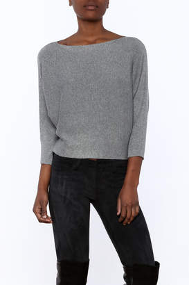 Olive & Oak Grey Sweater Top $59 thestylecure.com