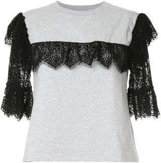 Giamba lace detail T-shirt