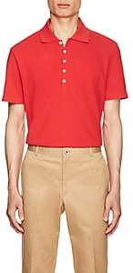 Thom Browne Men's Striped-Back Cotton Piqué Polo Shirt - Red