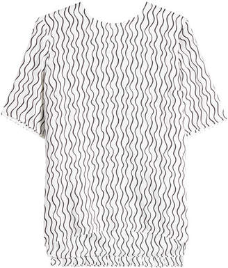 Victoria Beckham Victoria Printed Top with Pleated Back