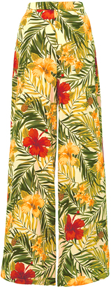 Miguelina Pamela High Rise Tropical Print Pants $400 thestylecure.com