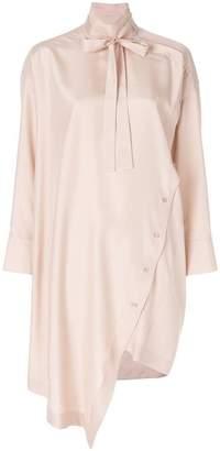 Valentino draped silk dress