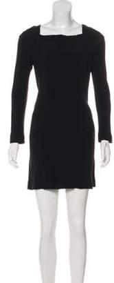 Roland Mouret Long Sleeve Mini Dress Black Long Sleeve Mini Dress