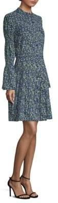 MICHAEL Michael Kors Smocked Sleeve Shirt Dress